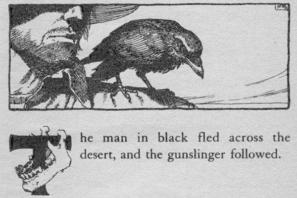 Frase inicial en idioma original de La Torre Oscura I. El pistolero.