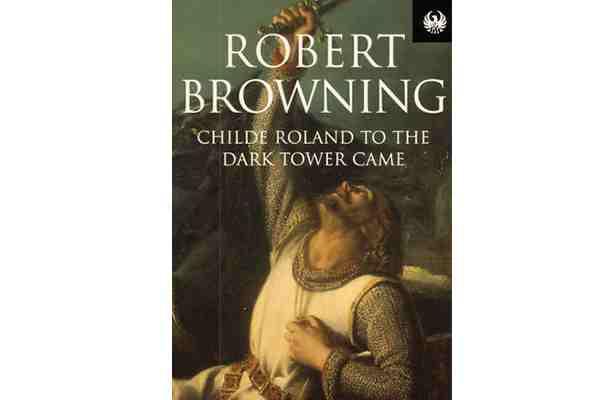 Childe Roland a la Torre Oscura llegó. Portada del poema de Browning.